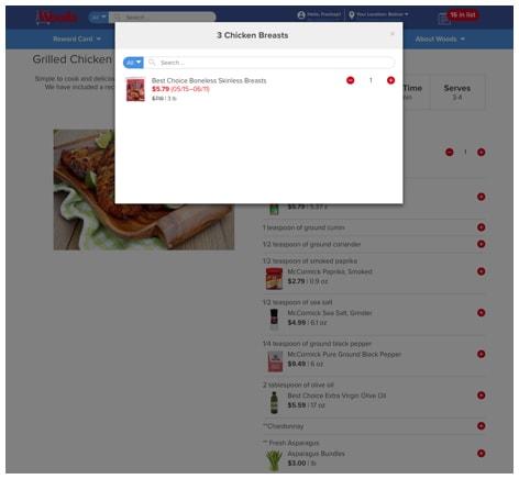 Freshop Recipe Page