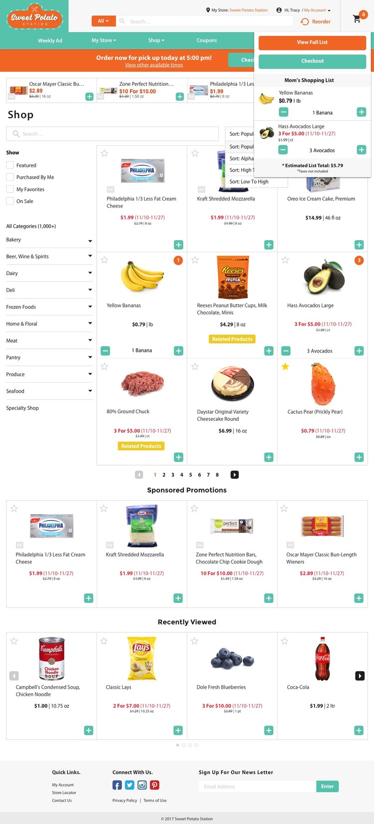 Freshop Themes: Sweet Potato