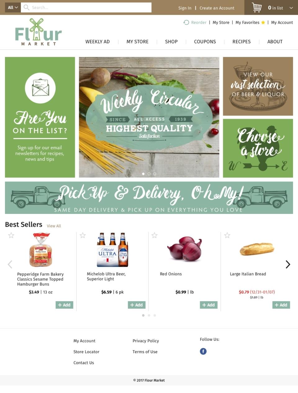 Freshop Themes: Flour Market