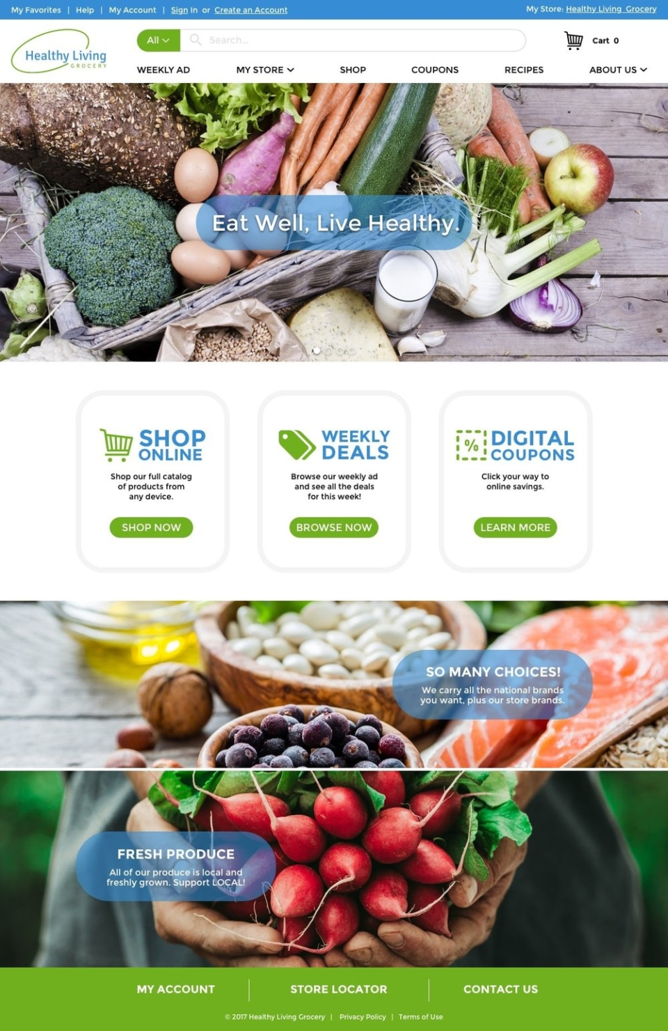 Freshop Themes: Healthy Living