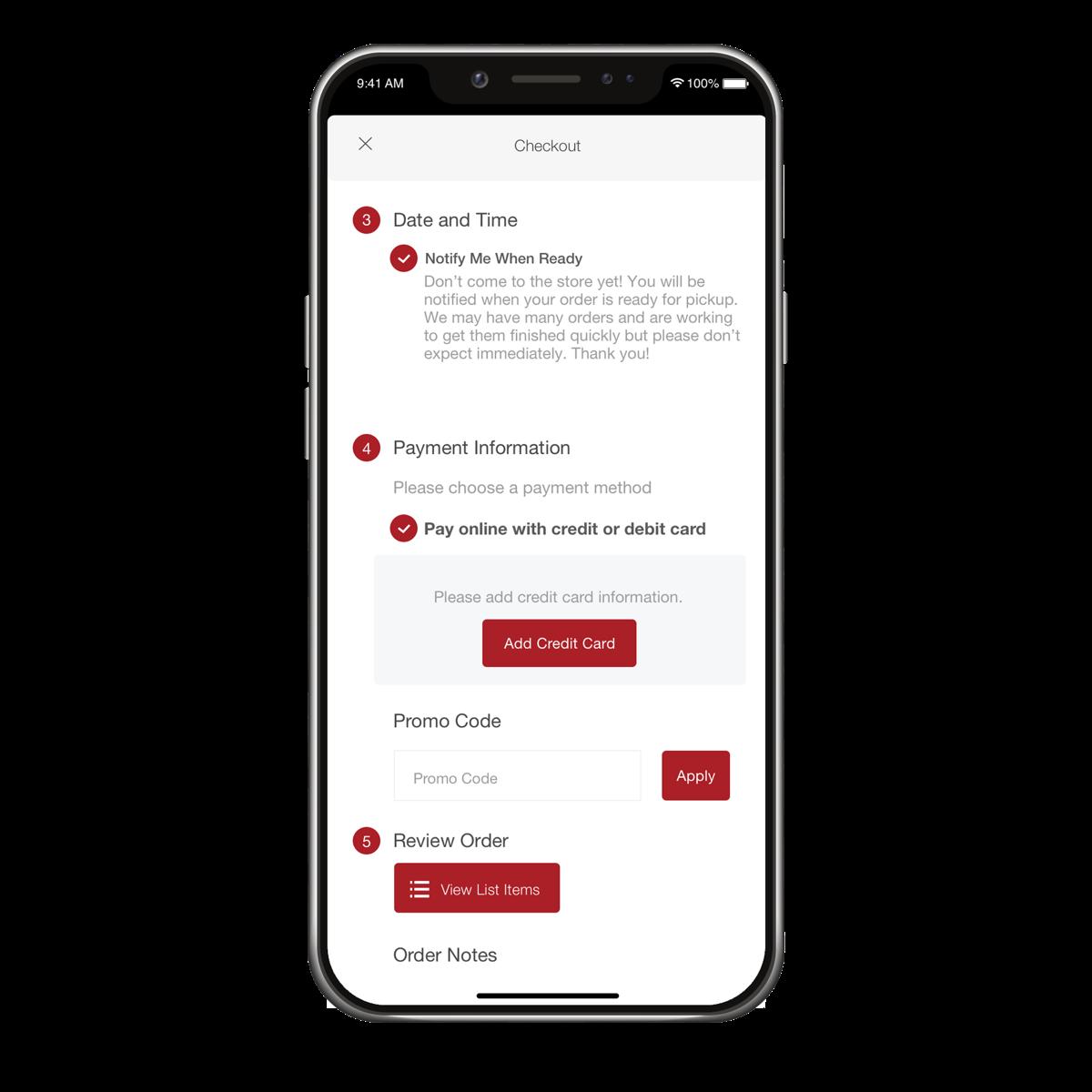 Freshop Express - App Checkout Page